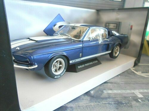 FORD Mustang GT500 GT 500 Shelby Muscle Car V8 blau blue 1967 Solido NEU 1:18