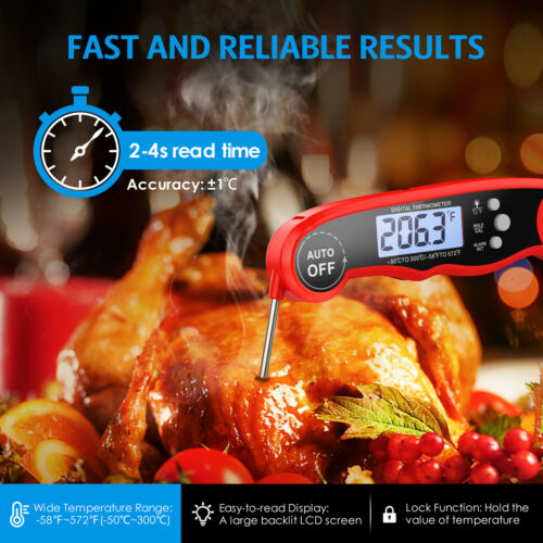 Digital Probe Cooking Thermometer Temperature Kitchen Grill BBQ Milk Meat Food