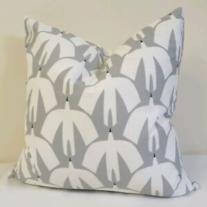 Scion Pajaro Steel Grey Fabric Cushion