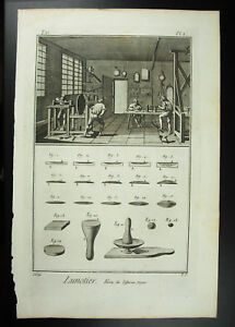 Marque Populaire Opticien Lunettier Lunetier Fabrication Des Lunettes Diderot Xviiie 1767 Complet Remise GéNéRale Sur La Vente 50-70%