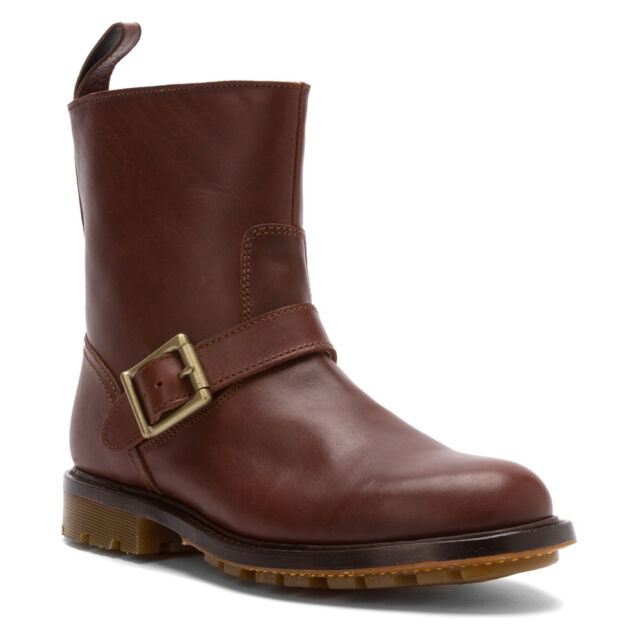 0ed4902a2e2a0 Dr. Martens Men`s Isaac Falan Style Brown Buckle Boot US 10 EU 43 UK 9 Ret.  $230
