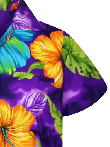 Funky Hawaiian Big Flower Different Colors Short Sleeve