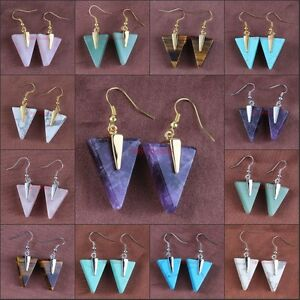 Classic-Cute-Triangle-Geometric-Pyramid-Shard-Stone-Dangle-Hook-Earring-Jewelry