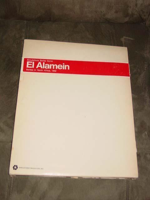 SPI 1973 - EL ALAMEIN - Rommel Battles in North Africa 1941 (Vintage Weiß Box)
