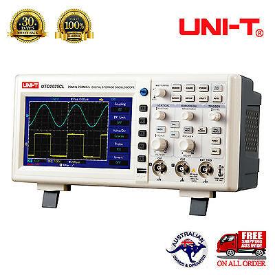 """UNI-T OSCILLOSCOPE UTD2025CL 2Channels 25MHz 25kpts 7"""" LCD Screen USB Multimeter"""