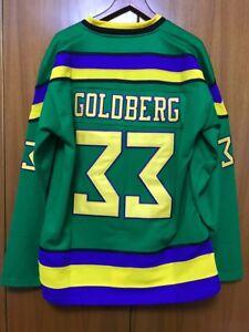 7d7fef4cd Mighty Ducks Movie Jersey  33 Greg Goldberg Hockey Jersey Stitched ...