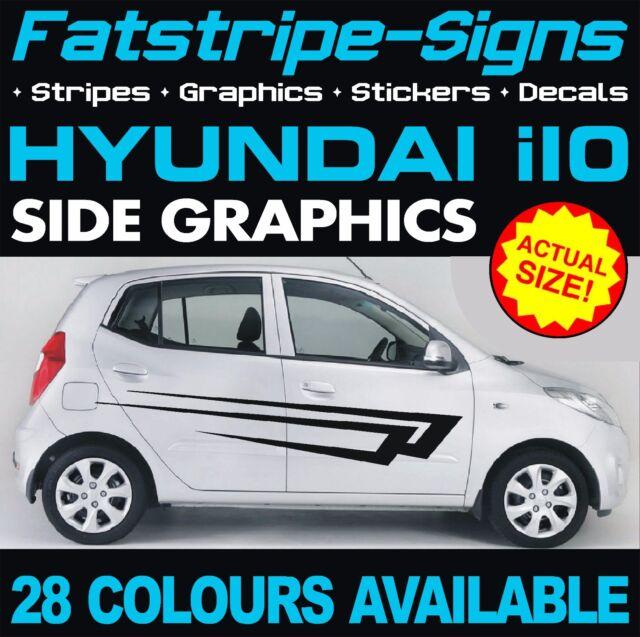 Hyundai I10 Graphics Stripes Decals Stickers Car Vinyl 1.0 1.1 1.2 ...