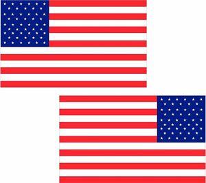 American Flag Decal SET USA United States Old Glory U.S EVM RH Vinyl Sticker