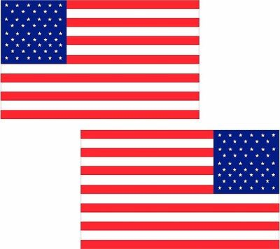 "2-3/"" American Grunge Flag Decal USA Old Glory Vinyl Car Bumper Sticker LH RH"