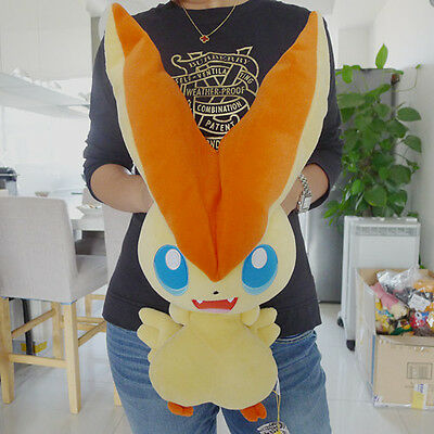 "100% Geniune Takara Tomy Plush Stuffed Doll 19"" Big Size Victini New"