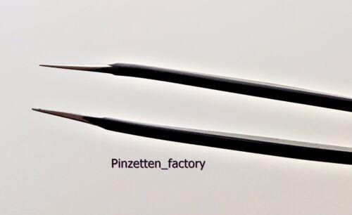 ESD Pinzette Antistatisch Antimagnetische Spitzen Mattpoliert NEU//Schwarz