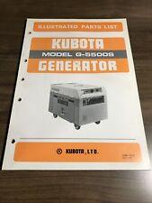 Genuine Kubota G5500s Generator Parts Book Catalog Manual