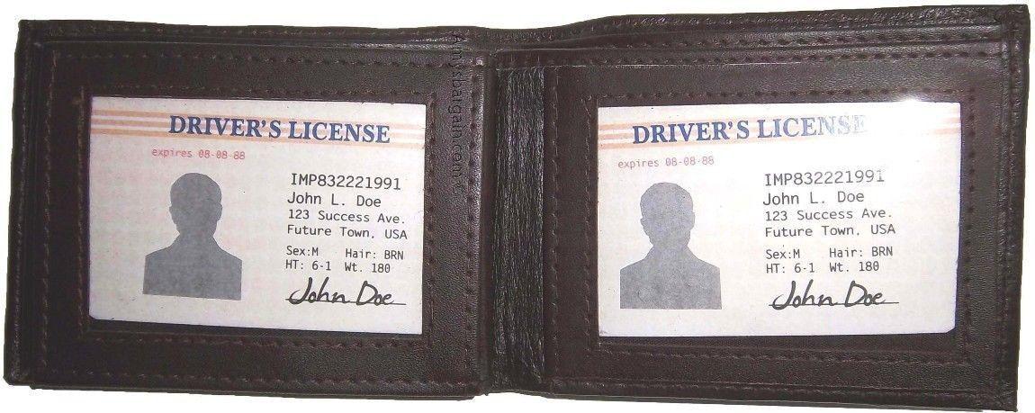 Herren Herren Herren Leder Portemonnaie 9 Cards Halterung 3 Identifikation Fenster  | Bevorzugtes Material  e8a974