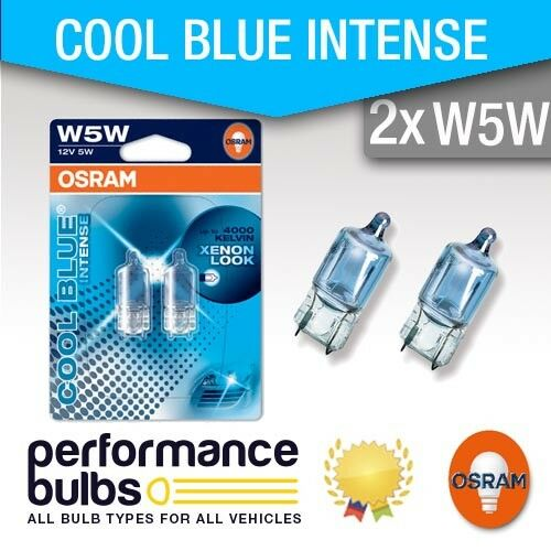 Osram Halogen Cool Blue W5W PEUGEOT 206 HATCHBACK 07-/> 501 Sidelight Bulbs