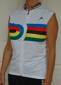 Jivana-Cycling-Bike-Sleeveless-Jersey-mens-womens-White-Rainbow-XS-S-M-L-XL-XXL