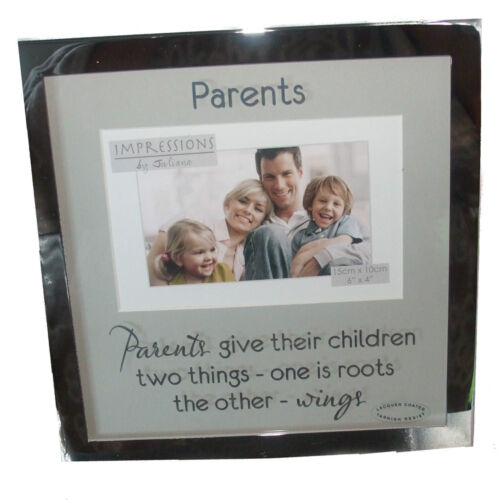 """Parents Impressions By Juliana Silver Coloured Photo Frame 6/"""" x 4/"""""""