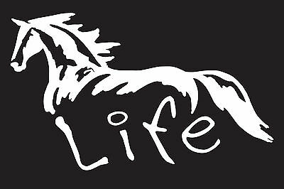 "Horse Life 7"" Vinyl Car Truck Window Sticker Decal"