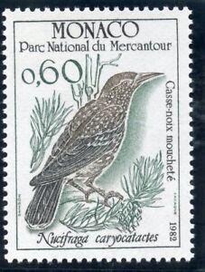Timbre De Monaco N° 1316 ** / Faune / Oiseaux / Nacrifraga Caryocatactes AgréAble En ArrièRe-GoûT
