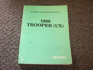 Electric Wiring Diagram Book : 1998 isuzu trooper suv electrical wiring diagram manual book s