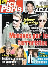 ICI PARIS N° 3673--JOHNNY & LAETICIA/DEPP/DUPEREY ET SON FILS/CHARLIE SHEEN