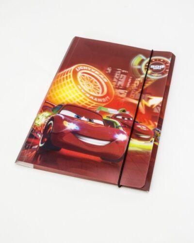 Cars oder Princess \ Prinzessinnen Motiv Disney Gummizugmappe A4 mit 3D Effekt