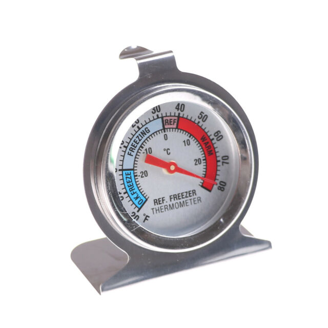 Stainless Steel Metal Temperature Refrigerator Freezer Dial Type Thermometer W&L