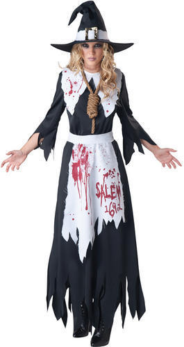 Salem Witch Ladies Halloween Fancy Dress Womens Adults Horror Costume Outfit New