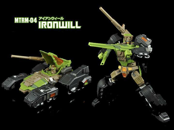 La transformación de robots mtrm - 04 ironwill figura MAKETOYS utilizado JC