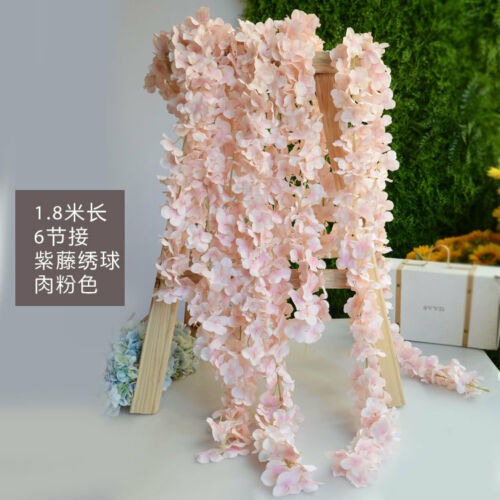 Artificial Hydrangea Bouquet Vine Hanging Silk Flower Wedding Party Home Decor