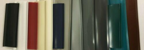 """1/"""" SAMPLES White Black Red Navy Green /& More Vinyl Insert Screw Cover RV Trailer"""