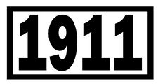 1911 Vinyl Decal Sticker Car Window Wall Bumper Gun Ammo M1911 ACP .45 Miliary