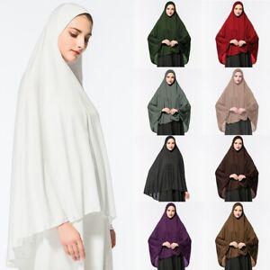 Women-Muslim-Prayer-Dress-Long-Scarf-Hijab-Jilbab-Islamic-Large-Overhead-Clothes