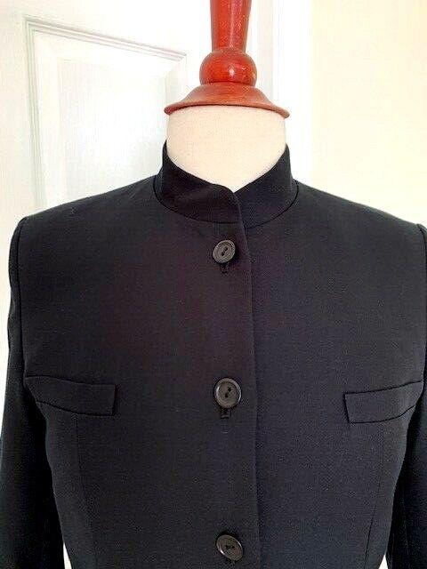 Talbot Women Black Jacket Size 4 Cotton/Silk Mand… - image 2