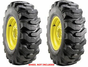 TWO-18X8-50-10-Carlisle-Trac-Chief-Industrial-Lug-Tires-Heavy-Duty-4-Ply-Rated