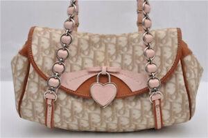 Christian-Dior-Handbag-Diorissimo-Monogram-Romantique-Chain-Shoulder-Bag-Purse