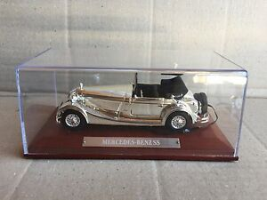 DIE-CAST-034-MERCEDES-BENZ-SS-034-SILVER-CARS-COLLECTION-ATLAS-SCALA-1-43