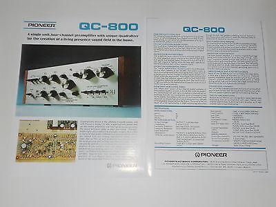 100% QualitäT Pioneer Qc-800 Quad Verstärker Prospekt 2 Pages, Spezifikationen, Info, Artikel Ausreichende Versorgung