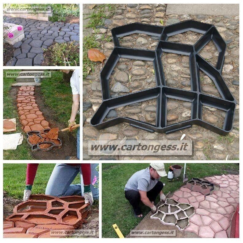 Stampo - Forma da giardino per lastricato e vialetti in cemento - tile Garden