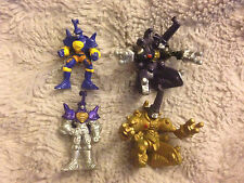 Digimon Mini Figure Toy Lot Silver Beetlemon Gold MetalKabuterimon