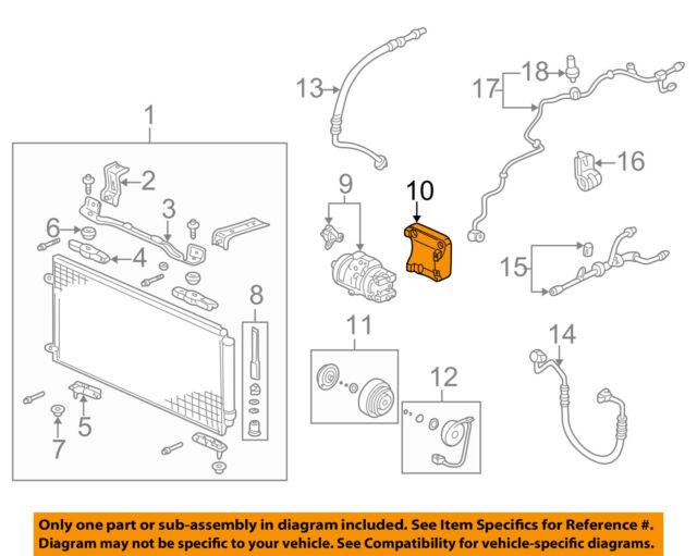 honda oem a/c ac condenser/compressor/line-compressor mount bracket  38930p8fa11