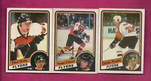1984-85-OPC-FLYERS-POULIN-RC-GUAY-RC-ERIKSSON-RC-CARD-INV-A6011