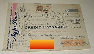 MANDAT-Timbre-1931-Societe-Francaise-pour-l-039-IMPORTATION-d-039-ALLEMAGNE-AGFA-Photo