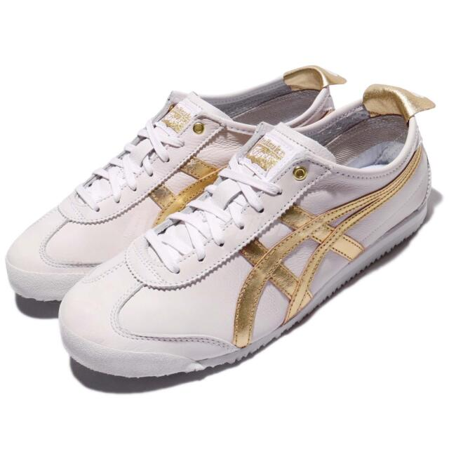 wholesale dealer f13a1 96229 Asics Onitsuka Tiger Mexico 66 White Gold Leather Men Women Vintage  D508K-0194