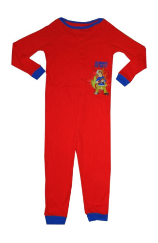 2 Years Fireman Sam Boys 100/% Cotton All in One Sleepsuit Pjs in Red or Blue