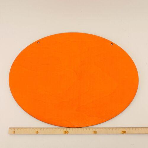Bodenplatte für Geschenk Platte ovale Orange Holzplatte 24cm für viele Ideen