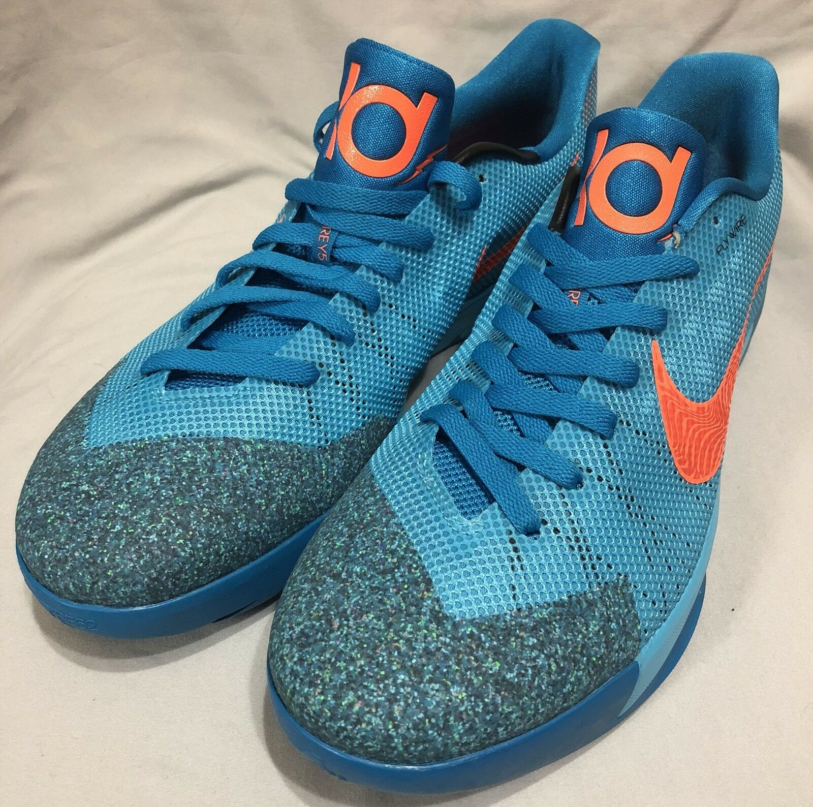 Nike KD Trey 5 II Clearwater Orange Basketball Shoes Size 13 653657-488