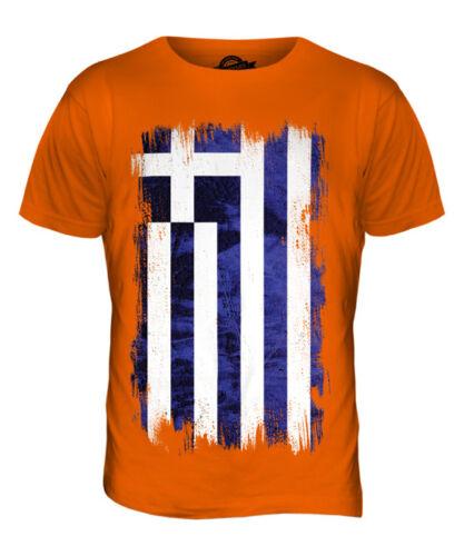 GREECE GRUNGE FLAG MENS T-SHIRT TEE TOP HELLAS GREEK ELLADA HELLENIC GRECIAN