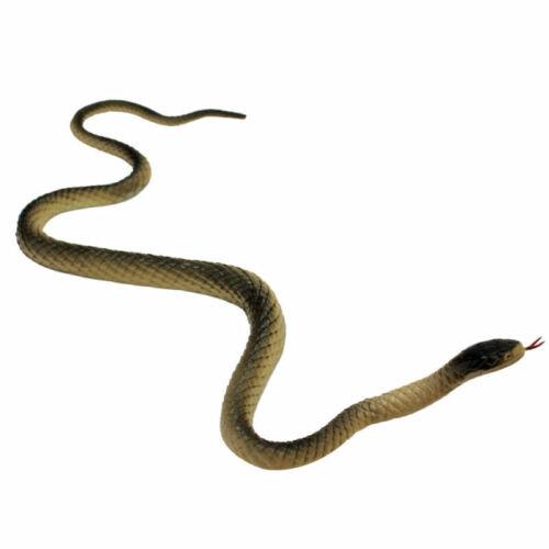 Realistic Manmade Soft Rubber Animal Fake Snake Garden Props Joke Prank K RCU