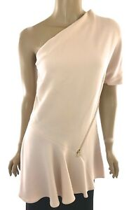 Stella-McCartney-New-Sz-4-Light-Pink-One-Shoulder-Tunic-Top-MSRP-755-Zip-Accent