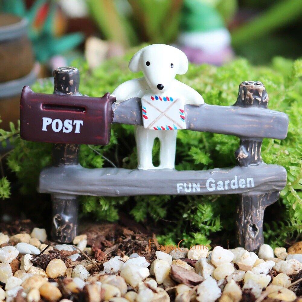 Garden Puppy Mail Box Fence Gate Entryway Signboard